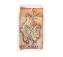 Twin Size Neverland Map Duvet Cover