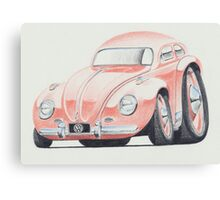 VW Beetle in Pink by Glens Graphix Canvas Print