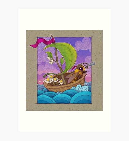 Honeybee Explorer and Walnut Ship Art Print