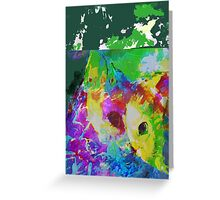 Communing with nature vertical view Greeting Card