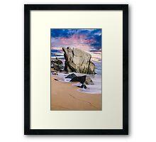 Dusk on Baja Coast Framed Print