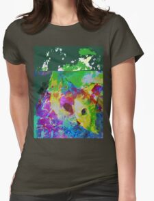 Communing with nature vertical view Womens Fitted T-Shirt