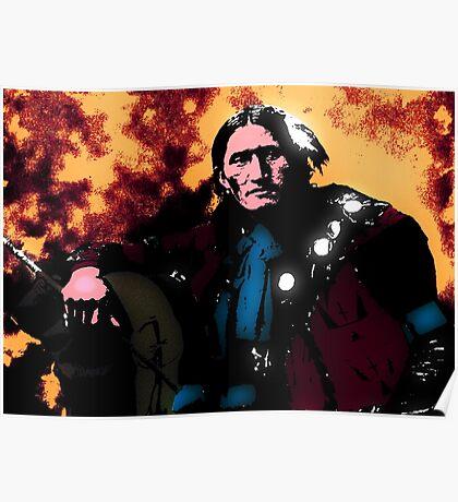 Eddie Plenty Holes Sioux Indian Poster
