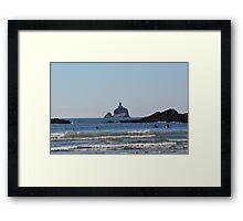 Tillamook Rock Light Framed Print