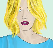 Blonde Ambition - Gorgeous Blonde Woman Illustration by ibadishi