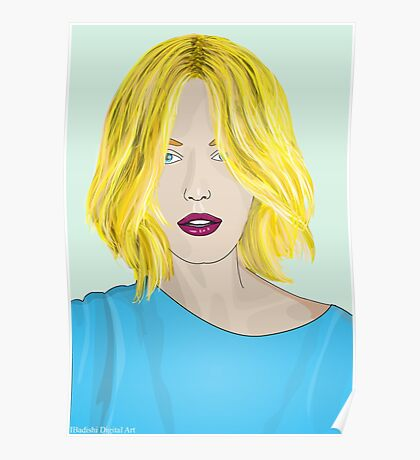 Blonde Ambition - Gorgeous Blonde Woman Illustration Poster