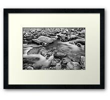 Black and White Rocky Mountain Streaming Dreaming Framed Print