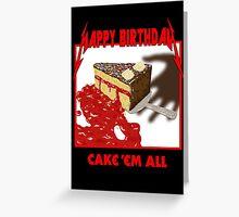 Cake Em All - Parody Greeting Card