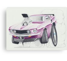 Ford Mustang 1969-Burnout by Glens Graphix Canvas Print