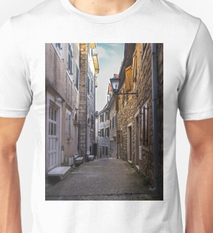 Narrow Street in Old Town Unisex T-Shirt