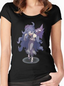 Pokemon / Pokémon X and Y - Hex Maniac and Haunter Women's Fitted Scoop T-Shirt