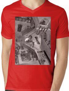 Escher's Asylum of the Daleks Mens V-Neck T-Shirt