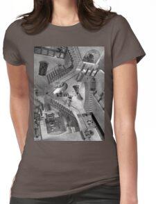 Escher's Asylum of the Daleks Womens Fitted T-Shirt
