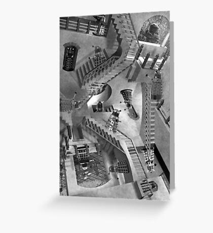 Escher's Asylum of the Daleks Greeting Card