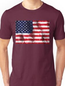 United States flag low poly pixcel texture by MrN Unisex T-Shirt