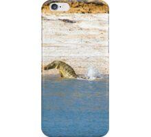 Saltwater Crocodile Eating 4/6 iPhone Case/Skin