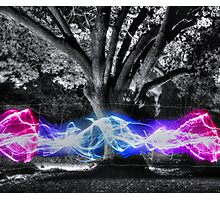Traveling Electricity HDR Photographic Print