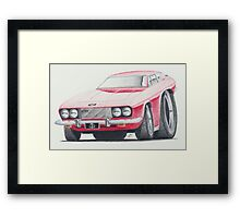 Jensen Interceptor III by Glens Graphix Framed Print