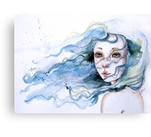 """Lily"" Surreal Watercolor Portrait Canvas Print"