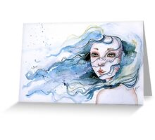"""Lily"" Surreal Watercolor Portrait Greeting Card"