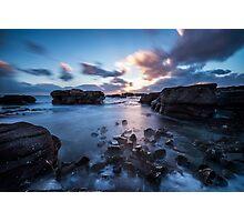 Sunset on the shoreline Photographic Print