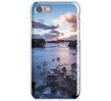 Sunset on the shoreline iPhone Case/Skin