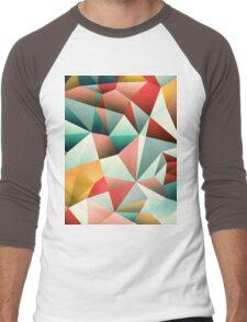 Modern Abstract Geometric Pattern Men's Baseball ¾ T-Shirt