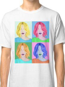 Pop Art Beautiful Woman - Warhol Style Classic T-Shirt
