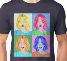 Pop Art Beautiful Woman - Warhol Style Unisex T-Shirt