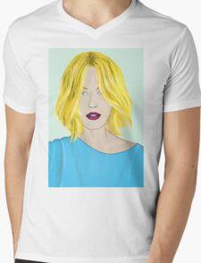 Blonde Ambition - Gorgeous Blonde Woman Illustration Mens V-Neck T-Shirt
