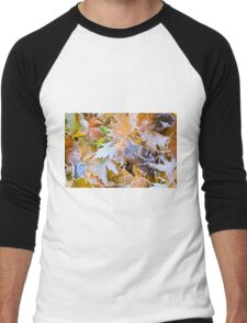 Autumn leaves as a background Men's Baseball ¾ T-Shirt