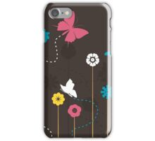Butterfly and a flower iPhone Case/Skin