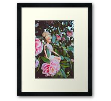 Barbie in the flowers Framed Print