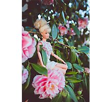 Barbie in the flowers Photographic Print