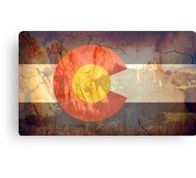 Garden of the Gods CO flag Canvas Print