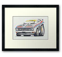 Allan Moffat XB Falcon by Glens Graphix Framed Print