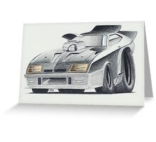 "Mad Max ""Interceptor"" by Glens Graphix Greeting Card"