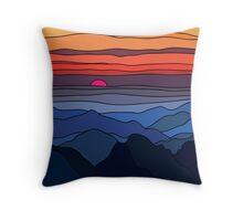 Summer sunset landscape Throw Pillow