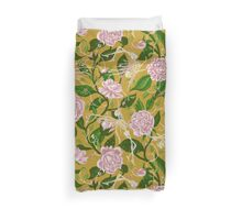 Death of Summer (mustard and pale rose) Duvet Cover