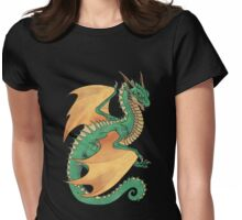 Green wyvern dragon Womens Fitted T-Shirt