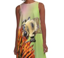 Fuzzy bumble A-Line Dress