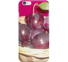 Fresh Picked Plums iPhone Case/Skin