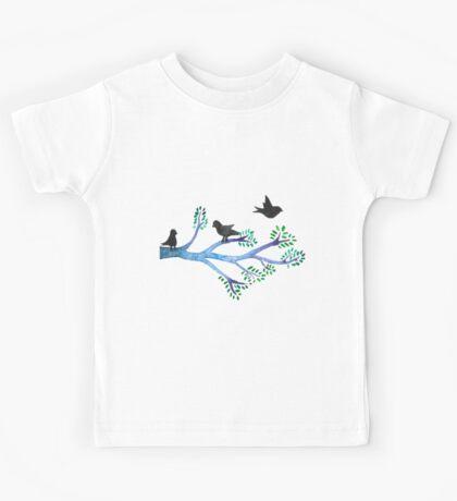 3 little birds Kids Tee