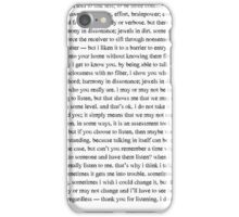verbose iPhone Case/Skin