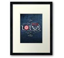the red lotus Framed Print