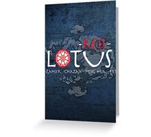 the red lotus Greeting Card