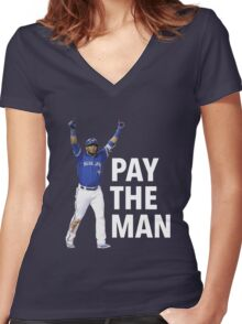 EDWIN | PAY THE MAN Women's Fitted V-Neck T-Shirt