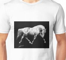"""To Dance in the Darkness"" - Andalusian stallion Unisex T-Shirt"