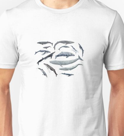 Whales all around Unisex T-Shirt