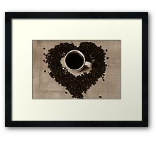 Loving Coffee Framed Print